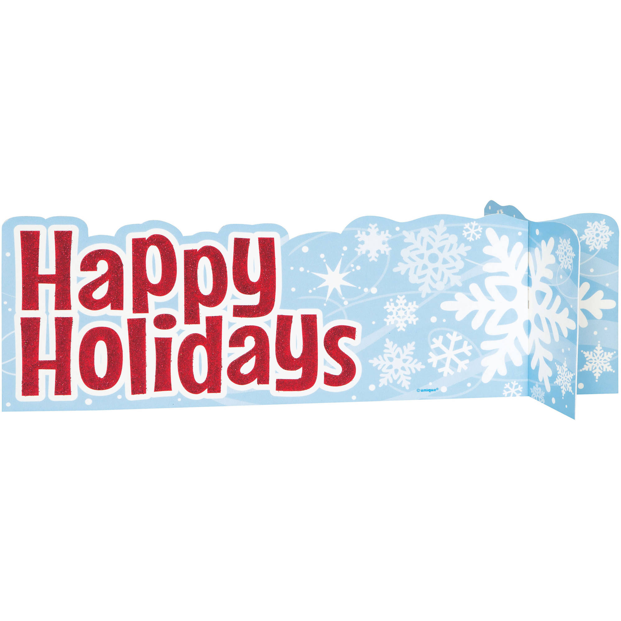 Snowflake Happy Holidays Centerpiece