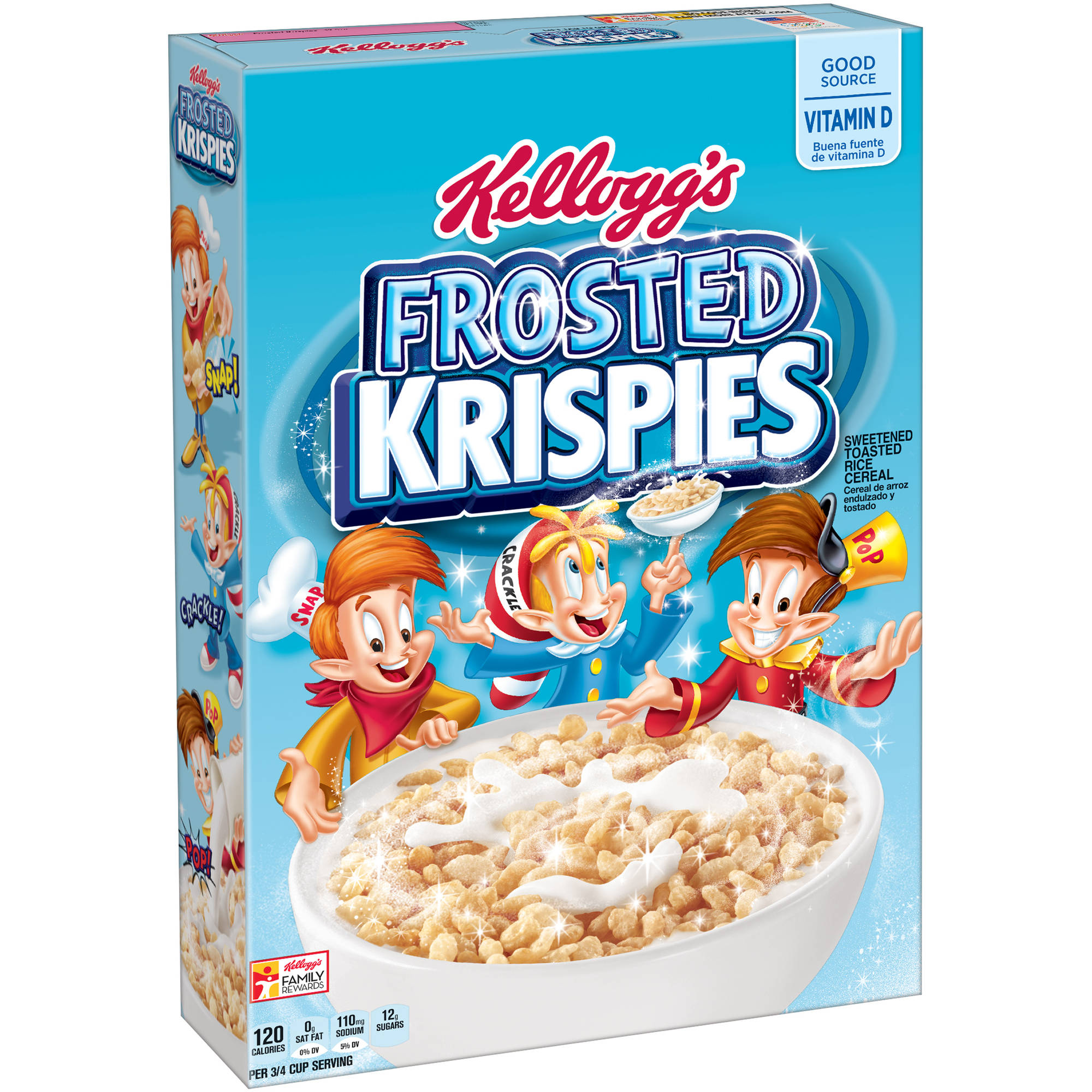 Kellogg's Frosted Krispies Toasted Rice Cereal, 12.5 Oz