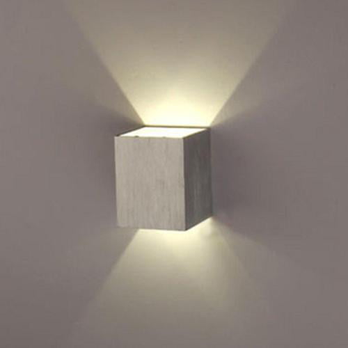AGPtEK Indoor Energy Saving LED Soft Light Wall Lamp for Hallway Walkway Living Room Bedroom Hall Porch White by