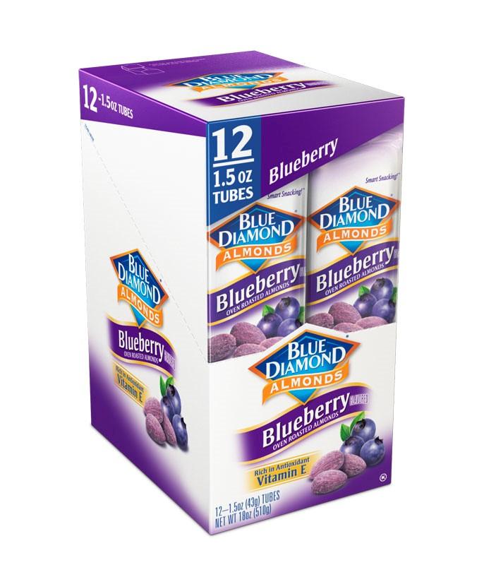 Blue Diamond Blueberry Oven Roasted Almonds 12-1.5 oz. Box by Blue Diamond Growers