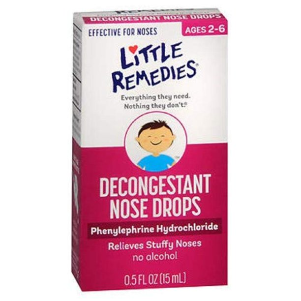 LITTLE NOSES DECONGEST DROPS 1/2 OZ, (pack of 3) (571764) By Little Remedies