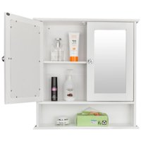 Ktaxon Bathroom Wall Cabinet with Mirror Doors Deals