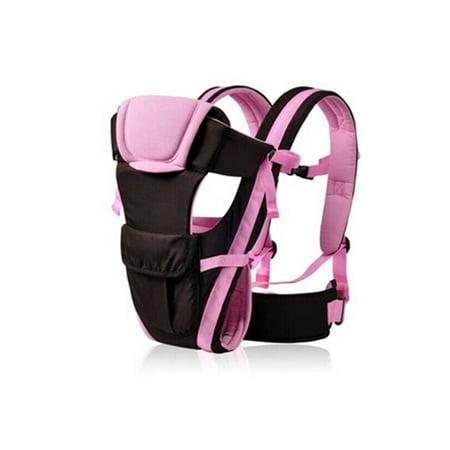 Breathable Ergonomic Infant Baby Carrier Adjustable Wrap Sling Newborn Backpack (Pink)