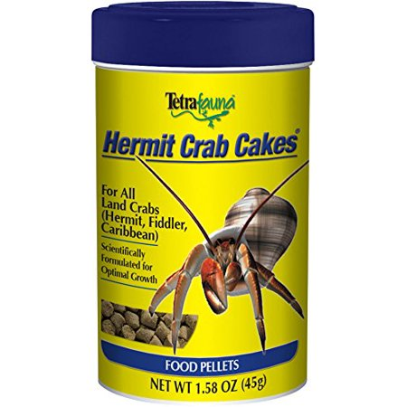 (2 Pack) TetraFauna Hermit Crab Meal Cakes for All Land Crabs,