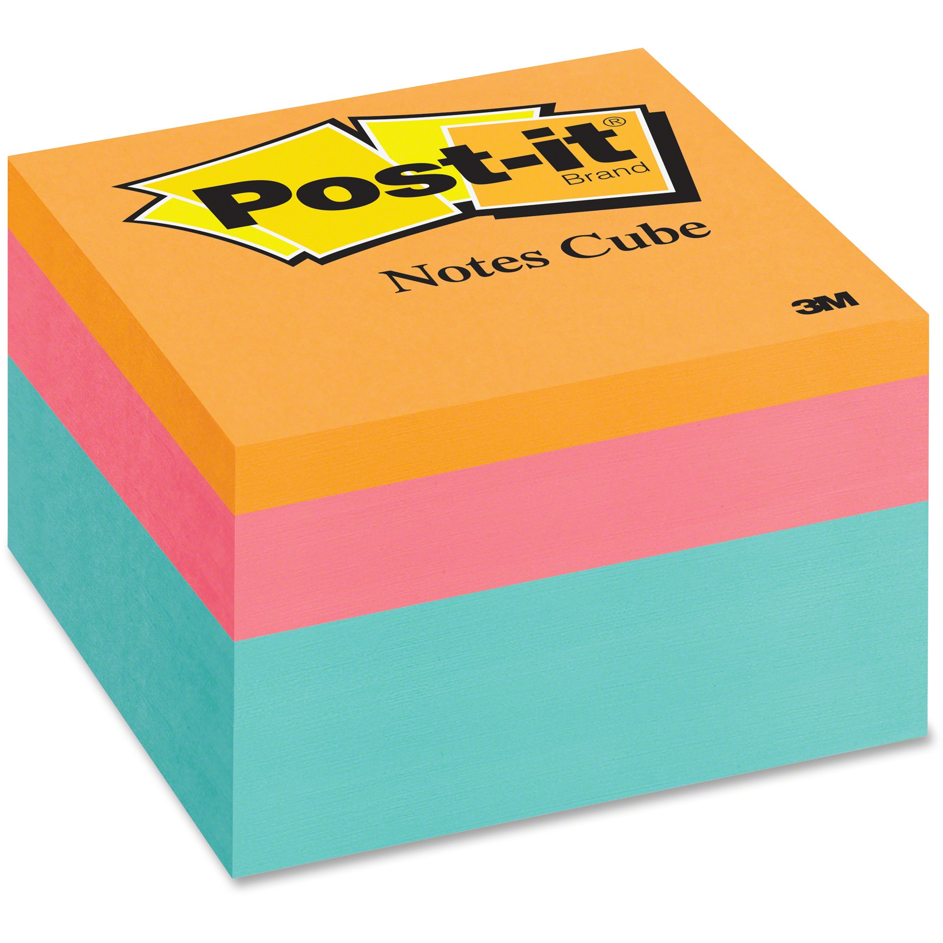 Post-it Sticky Notes Cube, Aqua Wave Collection
