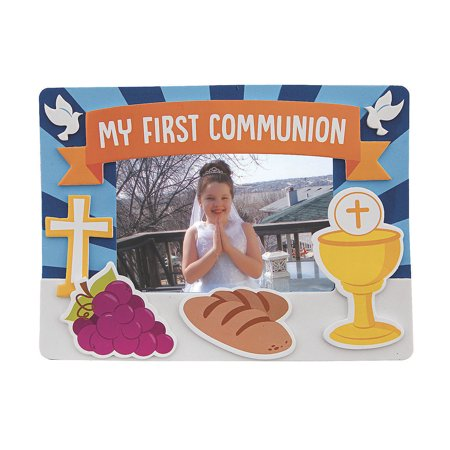 First Communion Picture Frame Magnet Craft Kit- Craft Kits - 12 Pieces