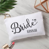 Bride Personalized Zipper Pouch