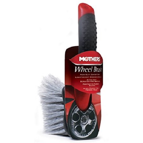 Mothers Car Detailing Wheel Brush - Rubberized Grip
