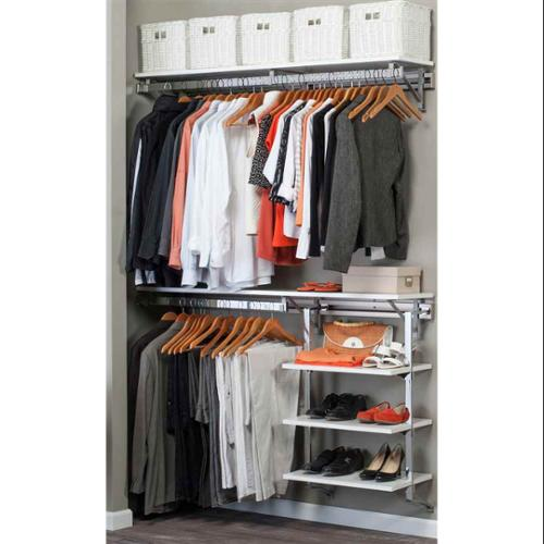 Closet System with Adjustable Shelves in White (52 in. W x 11.75 in. D x 84 in. H (83 lbs.))