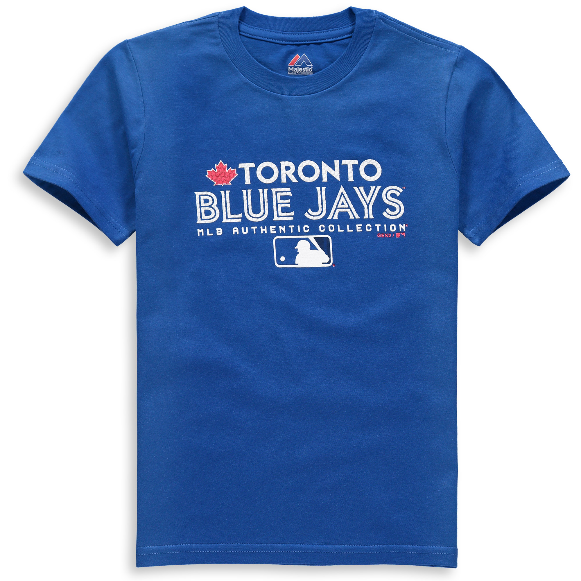 Toronto Blue Jays Youth Team Drive On-Field Authentic T-Shirt - Royal