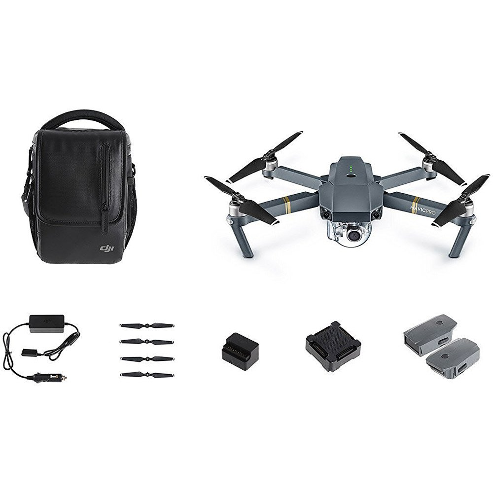 Mavic Pro Quadcopter Drone Fly More Combo, Gray by DJI