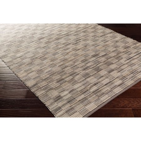 SolidStriped Apex Collection Area Rug in Neutral and Oval, Rectangle, Round, Runner Shape