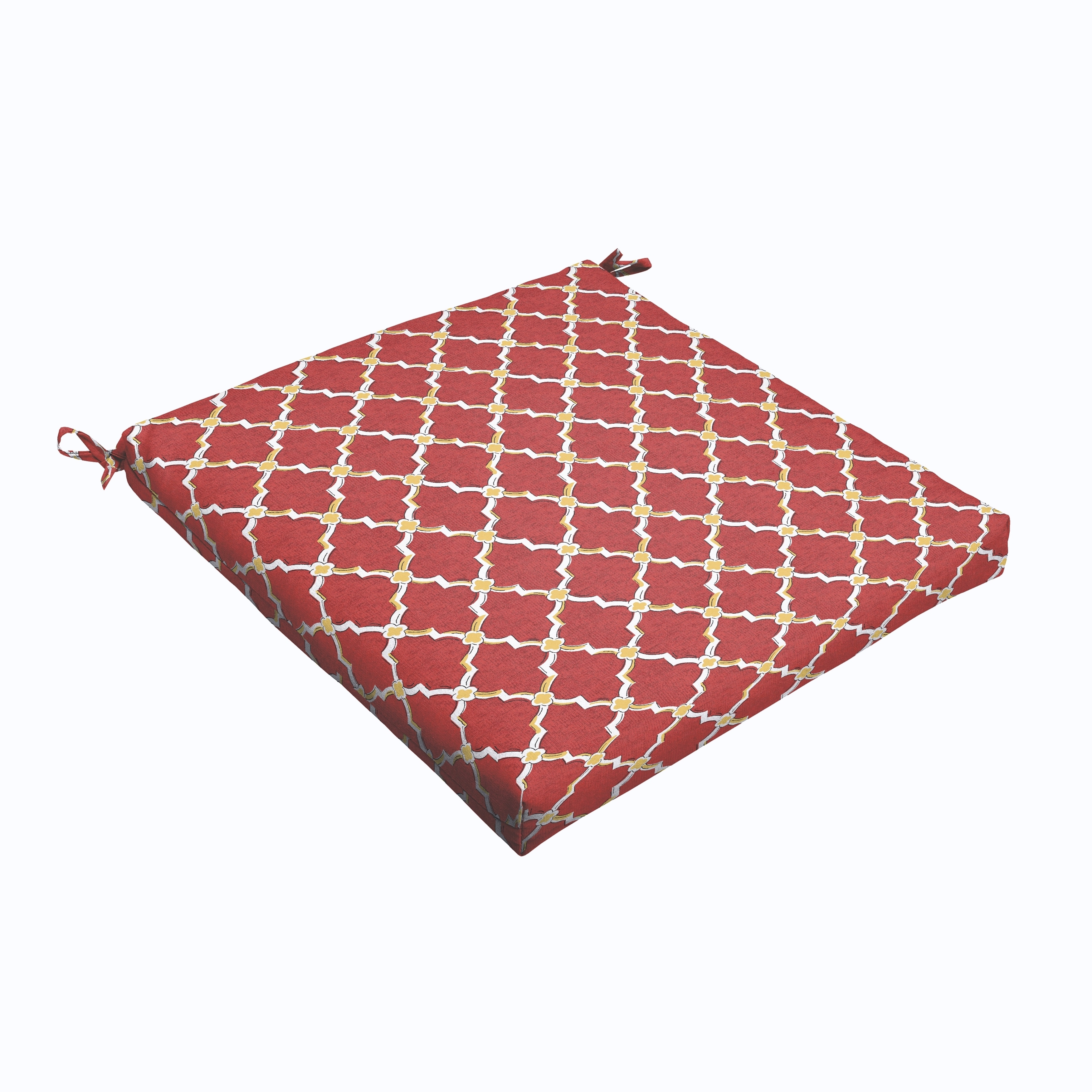 Humble and Haute Red Gold Berry 19 x 2.5-inch Chair Cushion - Bristol