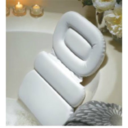 Stock Your Home Luxury Spa Bath Pillow Mat, Non-slip Bath Spa Pillow With Suction Cups
