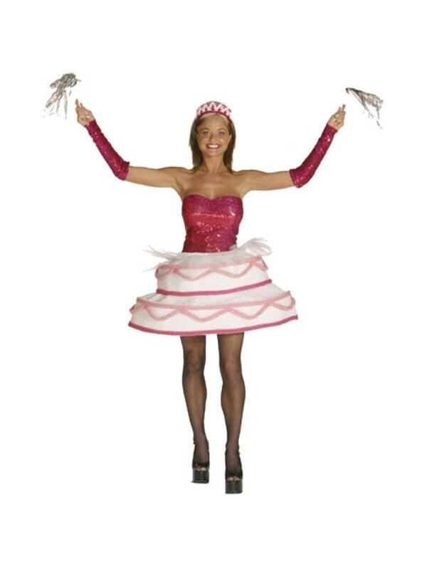Superb Adult Sexy Birthday Cake Costume Walmart Com Walmart Com Personalised Birthday Cards Bromeletsinfo