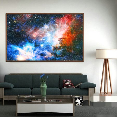 """24'' x 43"""" Space Cosmos Universe Planet Nebula Art Silk Galaxy Painting Poster Home Art Wall Decor GIFT - image 4 of 6"""