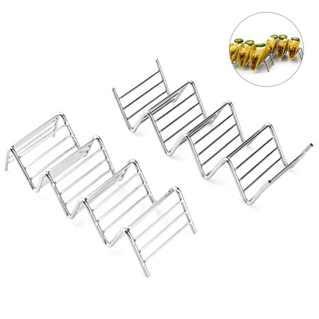 Taco Rack, 2Pcs Taco Holder, Stainless Steel Taco Stands Rack Shells, Suitable for Holding Tacos, Sandwiches, Bread, Hot Dogs and
