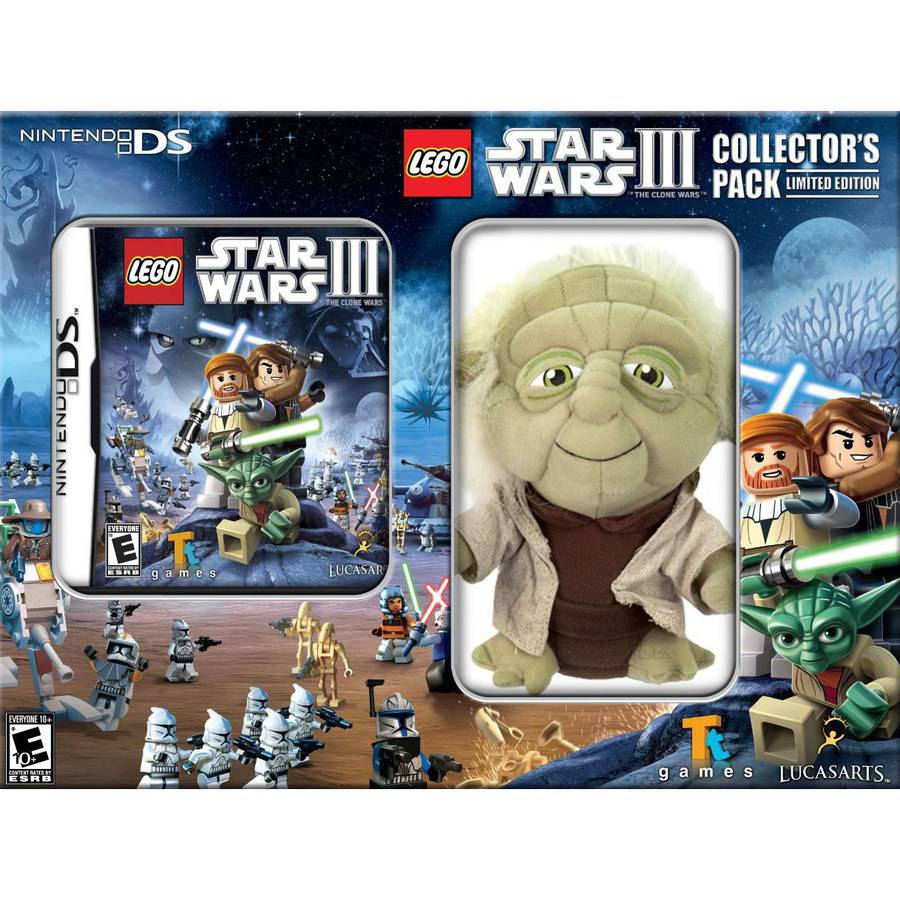 Lego Star Wars Game With Yoda Plush - Nintendo DS