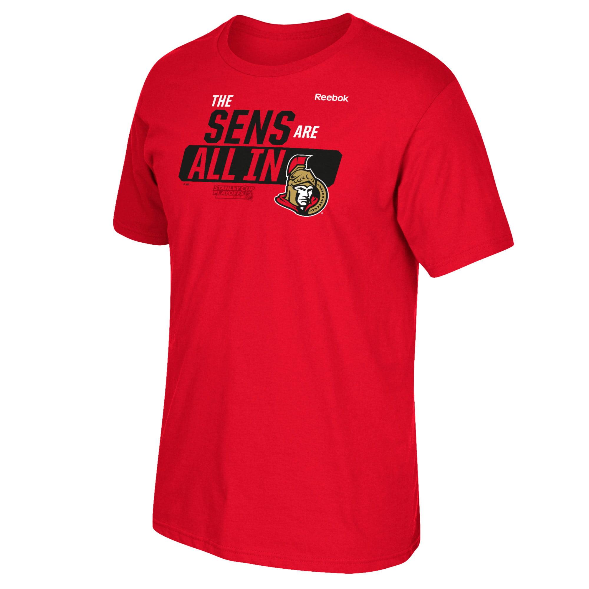 Ottawa Senators Reebok 2017 Stanley Cup Playoffs Slogan T-Shirt - Red