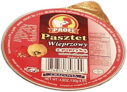 Profi Pork Village Pate with Peppers, 130g by