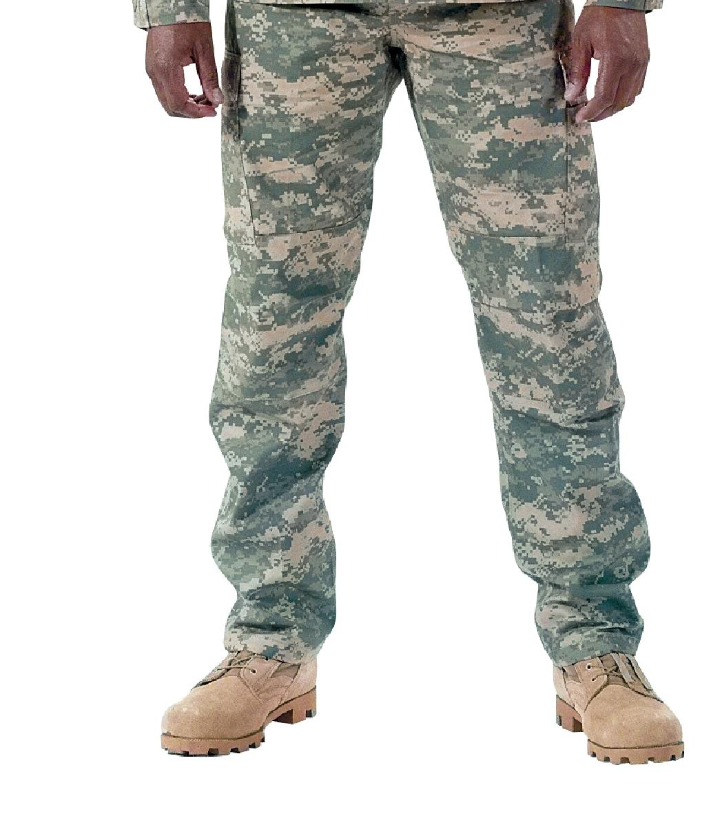 Army Digital Camo BDU Pants, Military Fatigues, ACU by Rothco