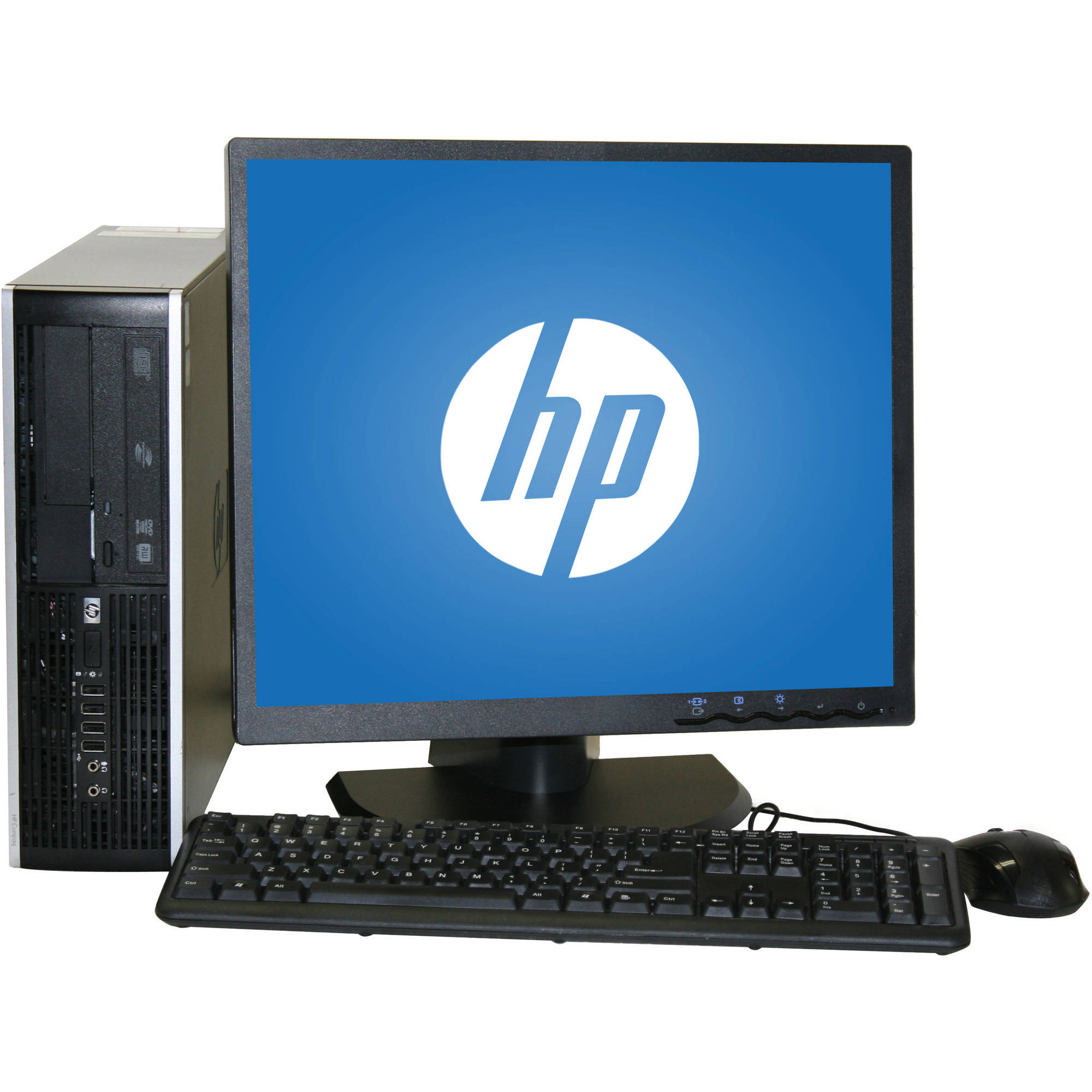 "Refurbished HP 6000 Desktop PC with Intel Core 2 Duo Processor, 4GB Memory, 19"" Monitor, 250GB Hard Drive and Windows 10 Home"
