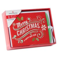 American Greetings 8-Count Christmas Gift Card Holder with White Envelopes