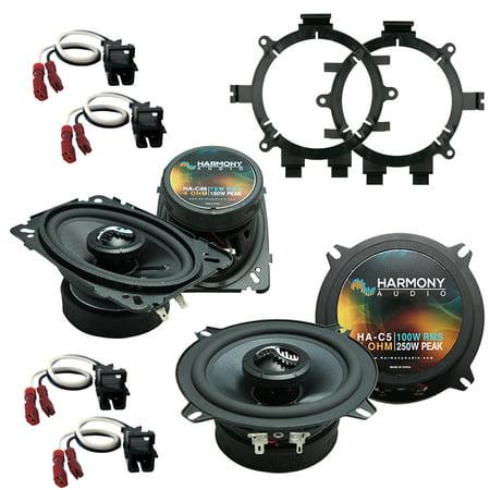 Cherry Speaker Stands (Fits Chevy Silverado Pickup 1999-2006 Factory Premium Speaker Upgrade Harmony C5 C46)