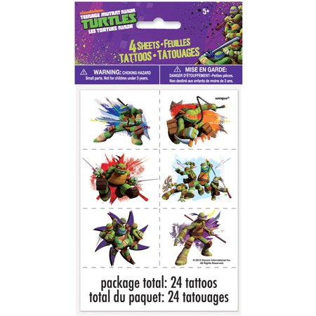 Teenage Mutant Ninja Turtles Tattoos, 24ct