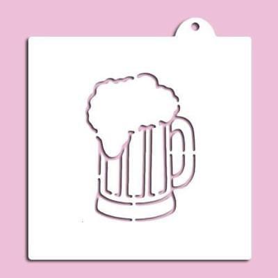 Embossed Beer (Embossed Beer Mug Stencil)