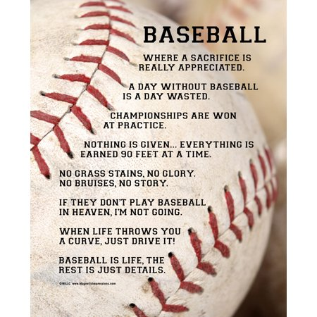 "Unframed Baseball Player Sayings 8"" x 10"" Sport Poster Print - Sports Poster"