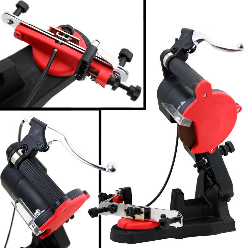 110V 85W Electric Sharpener Grinder Bench Mount Chainsaw with Brake & Wheel