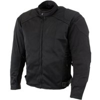 Xelement CF2157 'Caliber' Men's Black Mesh Motorcycle Jacket with X-Armor Protection Black