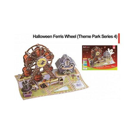 Halloween Ferris Wheel 3D Puzzle (Halloween Printable Puzzles Games)