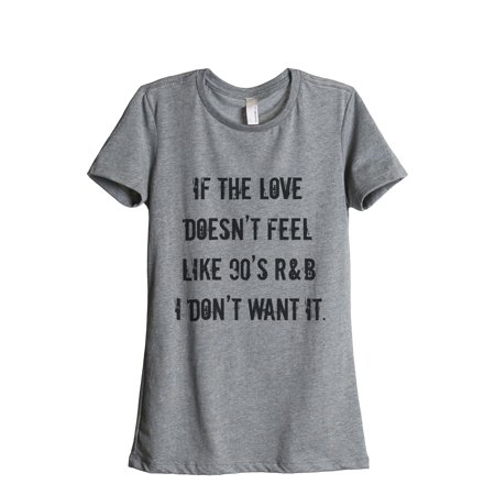 Thread Tank Love 90s RB Women's Relaxed Crewneck T-Shirt Tee Heather Grey - 90s Look For Girl