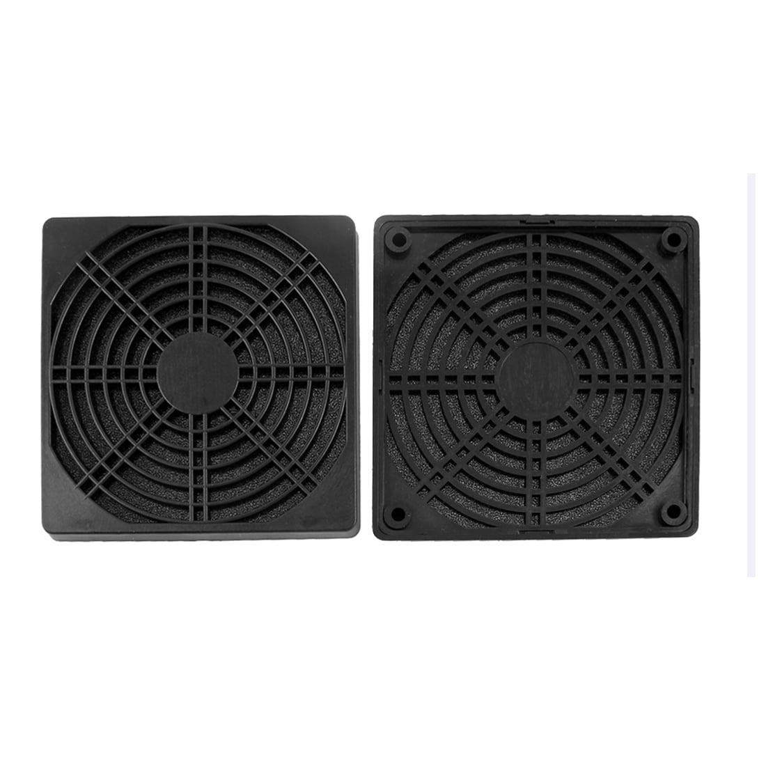 Computer Dustproof Cooler Fan Case Cover Dust Filter Mesh 120mmx120mmx10mm 2pcs