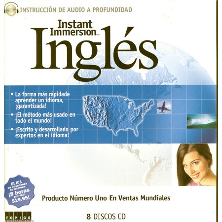 - Instant Immersion Language Learning INGLES (Spanish to English) 8 Audio CD Set (listen in your car)