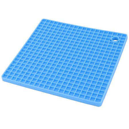 Silicone Nonslip Heat Resistant Bowl Plate Mat Table Protector Placemat Blue