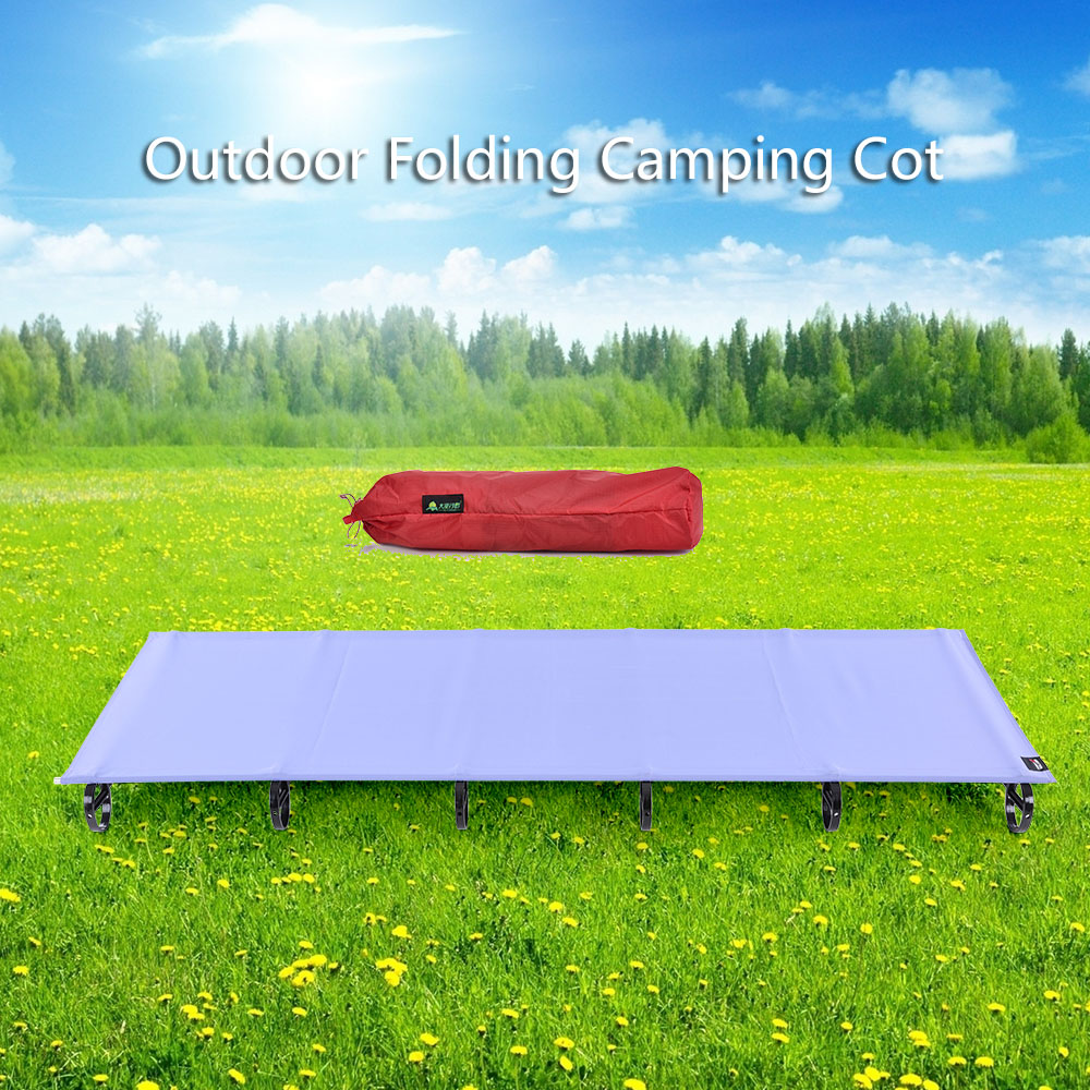 Portable Aluminum Alloy Camping Cot Off Ground Aerial Ult...