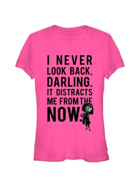 1348a078 Product Image The Incredibles Juniors' Edna Mode Never Look Back T-Shirt