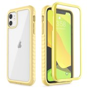 iPhone 11 Case, ULAK Clear Heavy Duty Protection Shockproof Rugged Cover Designed Flexible Soft TPU Bumper Safe Grip Protective Cover for Apple iPhone 11 6.1 (Light Yellow)