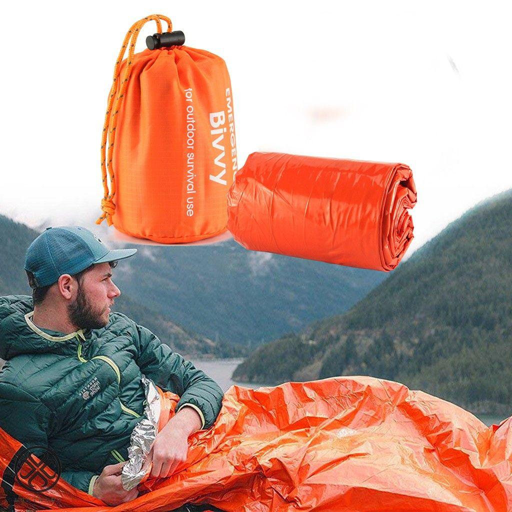 2X Camping Emergency Sleeping Bag,Waterproof Survival Bivvy Bag Blanket Outdoor