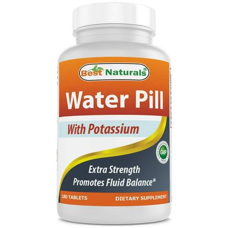 Best Naturals Water Pills with Potassium Tablet, 180