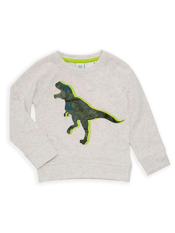 Little Boy's Graphic Dino Sweatshirt