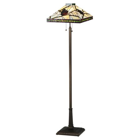 2-Light Pinecone Mission Floor Lamp
