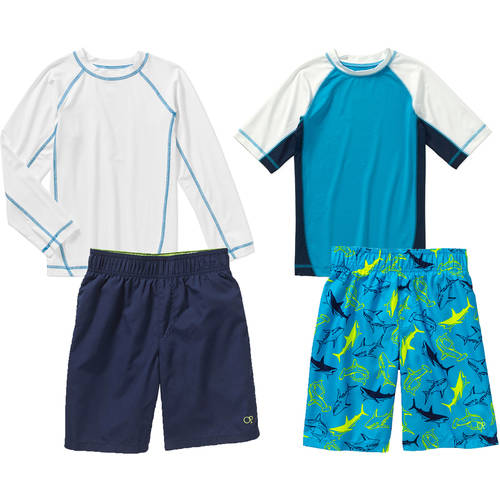 OP Boys' Rashguard & Swim Short Your Choice Value Bundle
