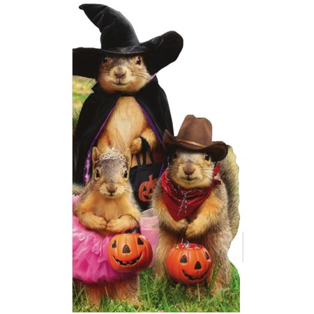 Avanti Press Squirrel Trick Or Treaters Halloween Card
