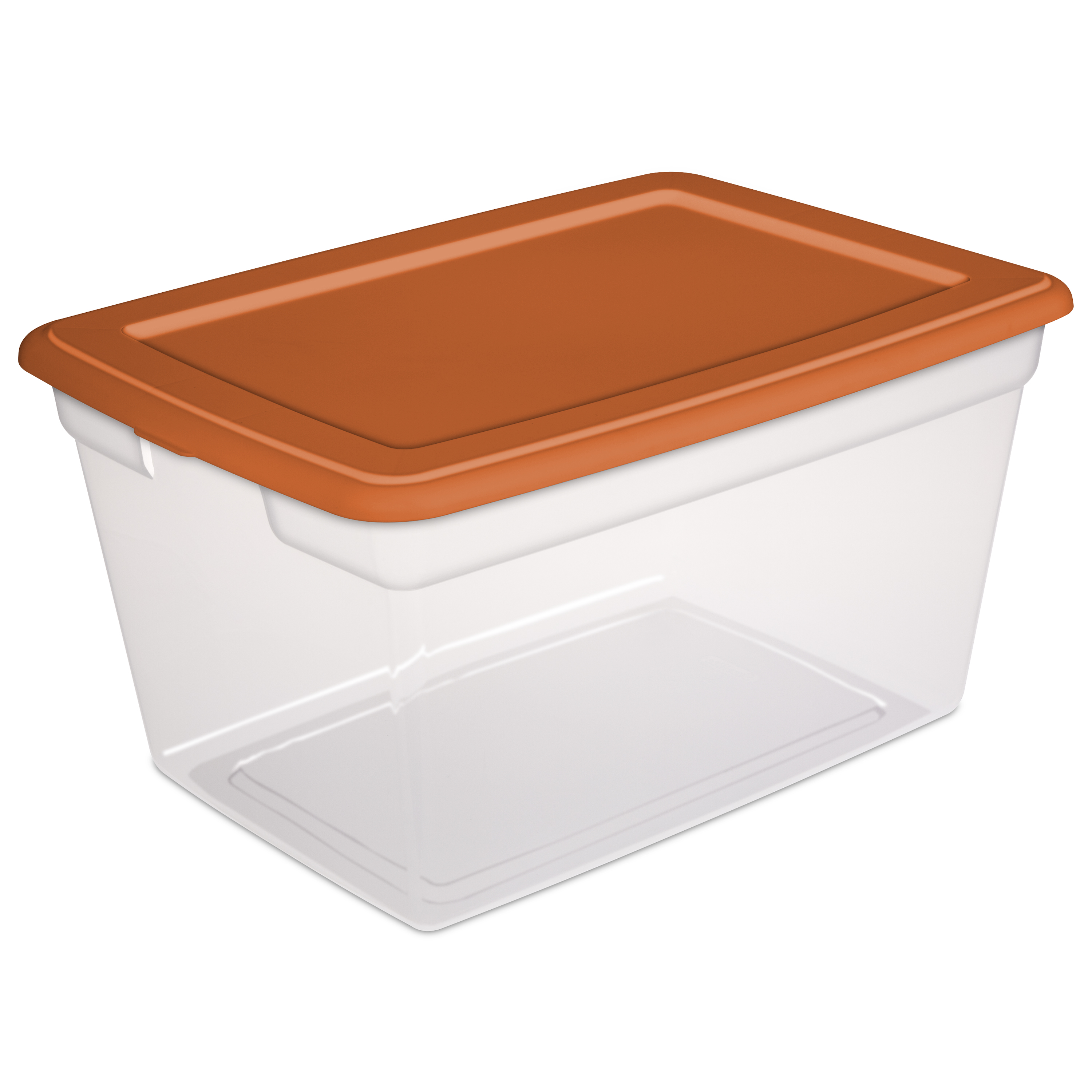 Sterilite 58 Quart Storage Box -Turmeric