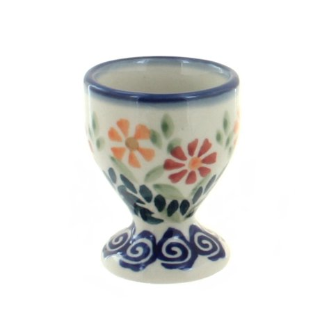 Polish Pottery Garden Bouquet Egg - Garden Bouquet Cup