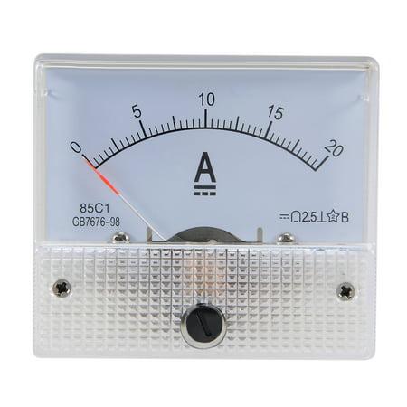 85C1 Analog Current Panel Meter DC 20A Ammeter Ampere Tester Gauge 1 PCS
